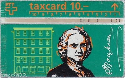 Switzerland - Phone Card Taxcard Ptt - Jean Jacques Rousseau (1) - Fr. 10