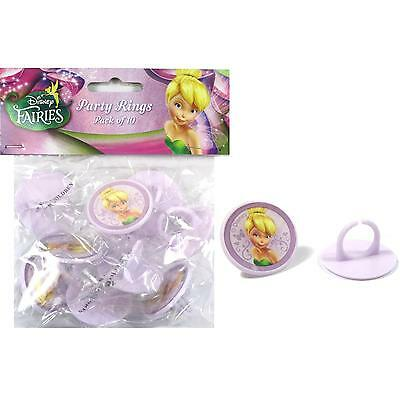 Tinkerbell Party Supplies Cupcake Cake Rings Decorations (Pack Of 10)