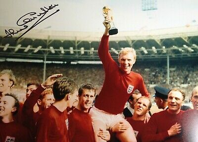 Jack Charlton - England World Cup Winner -  Signed Colour Photograph