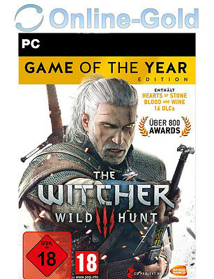The Witcher 3 III Wild Hunt - Game of the Year GOTY Edition Key GOG PC Code EU