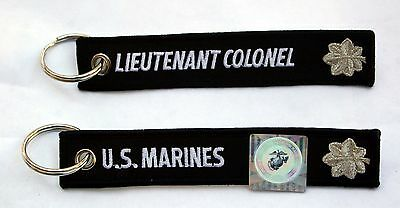 US MARINES LIEUTENANT COLONEL KEY CHAIN OFFICER RANK MILLITARY LT COL O-5 GIFT