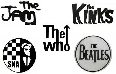 Scooter Stickers Vinyl Stickers The Who - The Jam - The Kinks - The Beatles