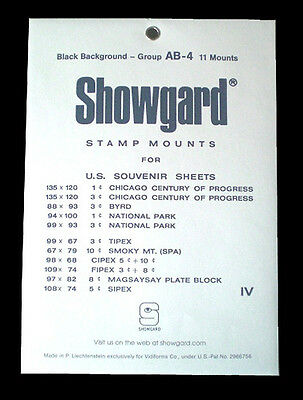 Showgard Black Stamp Mount Group AB-4 (11 count)