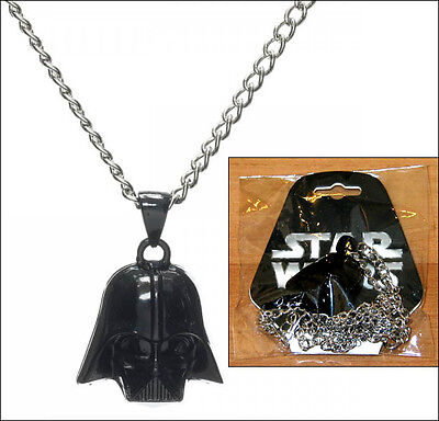 Star Wars Darth Vader Head Metal Pendant 3D Necklace Chain Official Licensed
