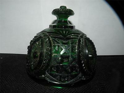 NORTHWOOD MEMPHIS GREEN PATTERN GLASS BUTTER DISH LID ONLY