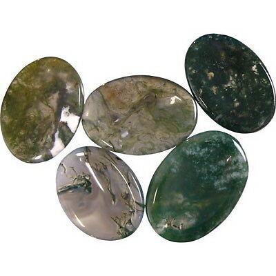 1 X MOSS AGATE WORRY STONES Wicca Witch Pagan Goth
