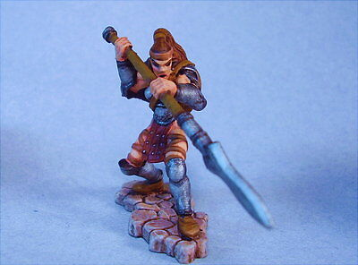 Dungeons and Dragons painted miniature Female Warrior/Adventurer