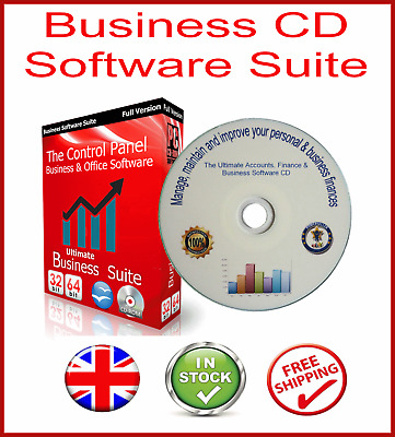 Accounting Bookkeeping Tax Personal Finance Vat Software Cd + Windows 10