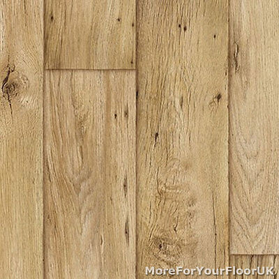 3.8mm Thick Vinyl Flooring Realistic Warm Wood Plank Effect Lino Kitchen CHEAP
