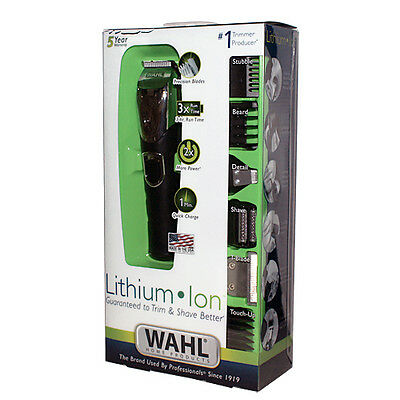 New Wahl Lithium Ion All In One T-blade Trimmer Groomer Shaver Ear Nose Hair Kit