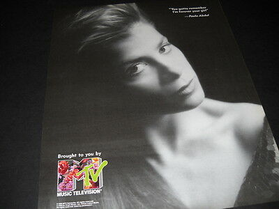 PAULA ABDUL says Remember...I'm Forver Your Girl 1990 PROMO POSTER AD mint cond