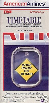 Airline Timetable - American - 02/07/01
