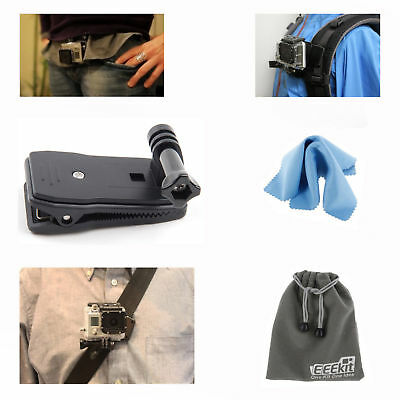 EEEKit Belt Bag Cap Clip Clamp Mount for Gopro Hero 5 4 Black Silver Session LCD