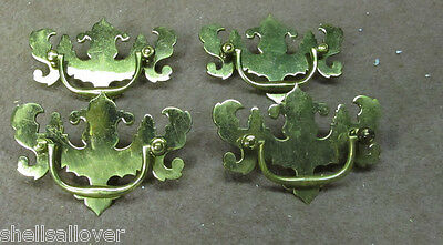 lot of 4  Vintage style Brass  Drawer Pulls  NOS