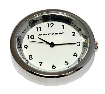 Yamaha MT-01 Stainless Steel / White Faced Clock