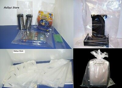 100 CLEAR 4 x 16 POLY BAGS PLASTIC LAY FLAT OPEN TOP PACKING ULINE BEST 1 MIL