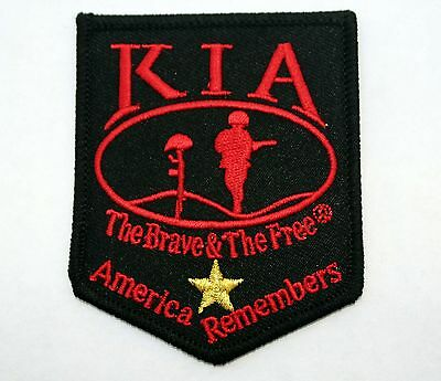 Us Military Kia Patch The Brave & The Free Us Army Navy Air Force Marines Uscg