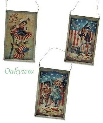 Bethany Lowe Americana BB Games Set of 3 Fourth 4th of July Patriotic Ornaments