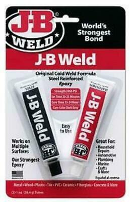 Jb Weld J-B Weld Adhesive Cold Glue Metal Wood Plastic Tile Pvc Concrete Repair