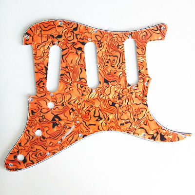 Guitar Pickguard Scratch Plate for Fender Strat Replacement Tortoise 3Ply SSS