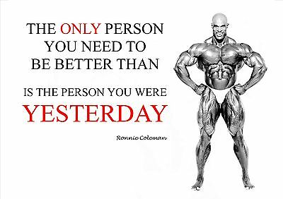 Ronnie Coleman Bodybuilding.. Quote Motivational  Poster / Print / Picture