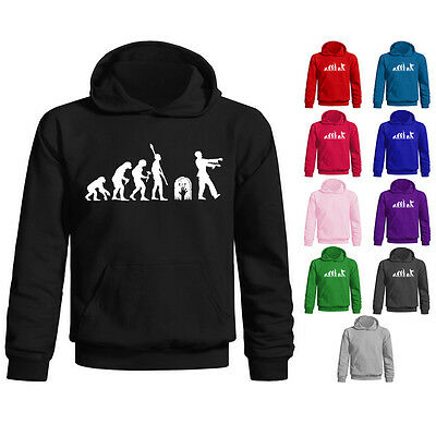 Kids Childrens Evolution Of Zombie Funny Horror Pullover Hoodie Age 5-13 Years