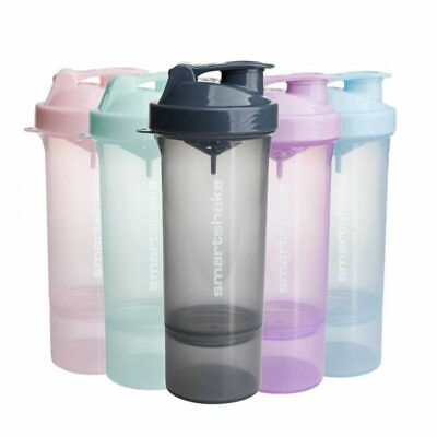 SMART-SHAKE Protein Shaker Bottle, Mixer Shaker Cup SmartShake Slim Smart