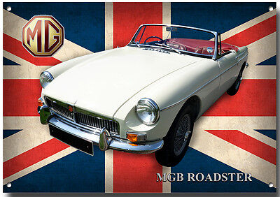 Mgb Roadster Metal Sign,high Gloss Finish,vintage/classic British Mg Cars.