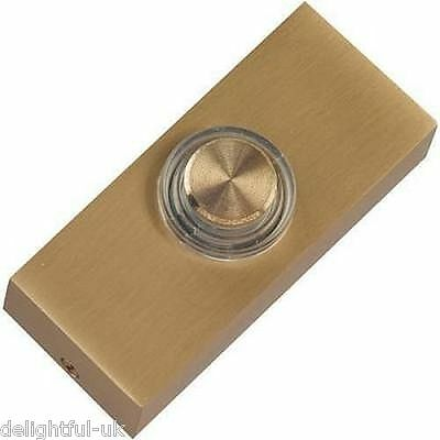 Brass Door Bell Push with Light - Illuminated/Lit - Made by Friedland