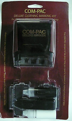 Com-Pac Deluxe Clothing Marking Kit Laundry Fabric Stamp Set New In Package
