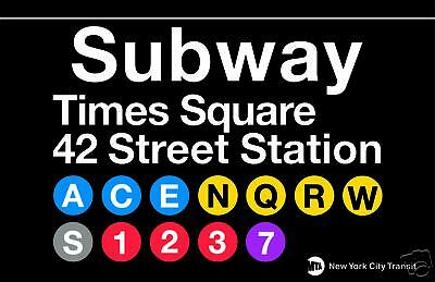 Times Square New York City Subway Station Sign Metal