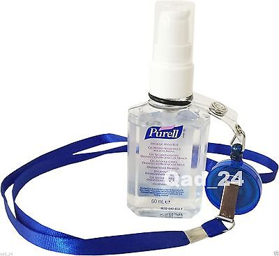 1 x bottle Purell Hand Sanitiser Rub Gel 60ml Travel Pump Pocket Size NHS Small