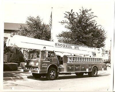 Fire Equipment Photo - Snorkel - El Paso FD Engine Ladder Truck Ford 1962 (DB71)