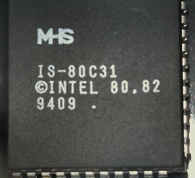 27 x MHS IS-80C31 8031 microcontroller 44 pin plcc