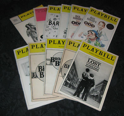Lot/Collection of 11 Playbills from 10 Neil Simon Plays:all Broadway productions