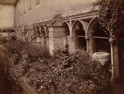 Photo Albuminé Beauvais Architecture Vers 1880