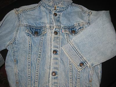 Vintage 1960'S Levis Levi's Jacket # 74027 0790 Unisex Sz 7 Youth Made In Usa