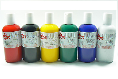 SCOLA 150ml BOTTLES OF PERMANENT FABRIC PAINT RED GREEN WHITE BLUE BLACK YELLOW