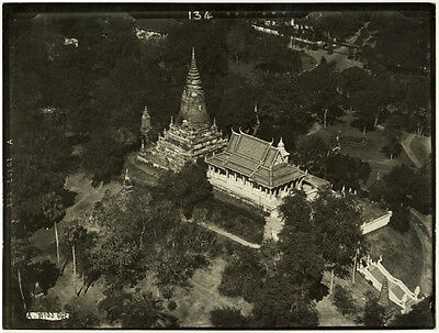 Photo Argentique Temple Indochine Cambodge ? Vers 1950