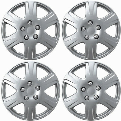 Hubcaps for 05-08 Toyota Corolla (Pack of 4) 15 Inch Wheel Cover Rim Silver Skin