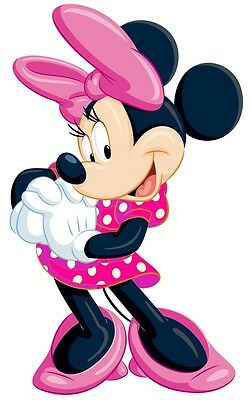 WALL STICKER STICKERS ADESIVI MURALI DISNEY CM.30 MINNIE IN Fuxia C22