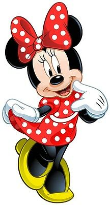 Wall Sticker Stickers Adesivi Murali Disney Minnie Cm.70 Minnie In Rosso  T43