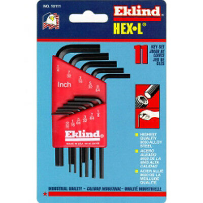 Eklind 10111 11 Piece SAE Short Hex-L Hex Key Set