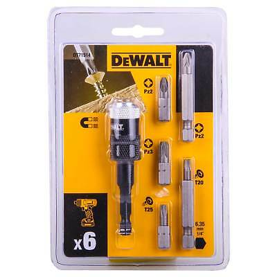 Dewalt Impact Driver Drill Screwdriver Magnetic Bit Holder Set Torx Rapid Load