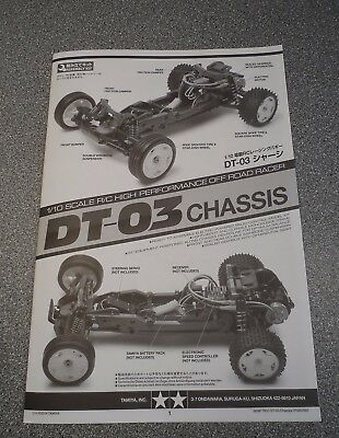 New Tamiya DT-03/DT03 Chassis Instructions Spare Parts