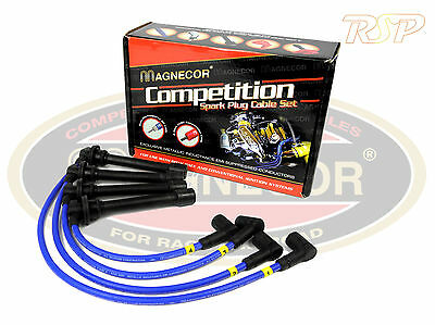 Magnecor 8mm Ignition HT Leads Wires Cable Toyota Starlet 1.3 SOHC 8v 1990-93 2E
