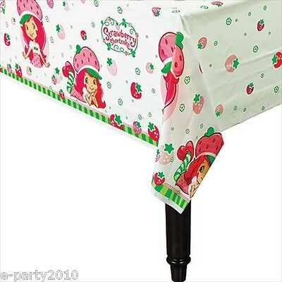 STRAWBERRY SHORTCAKE DOLLS PLASTIC TABLECOVER ~ Birthday Party Supplies Decorate