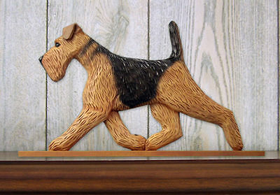 Airedale Dog Figurine Sign Plaque Display Wall Decoration