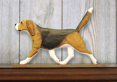 Beagle Dog Figurine Sign Plaque Display Wall Decoration Tri