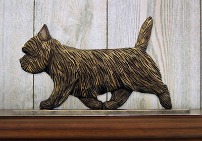 Cairn Terrier Dog Figurine Sign Plaque Display Wall Decoration Black Brindle